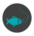 fishing glyph color icon vector image