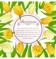 Floral card with tulips on background vector image vector image