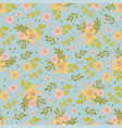 floral dress hand drawn seamless pattern vector image vector image