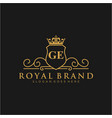ge letter initial luxurious brand logo template vector image vector image