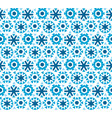 geometric flat snowflake seamless pattern vector image