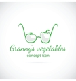 Grannys vegetables concept symbol icon vector image
