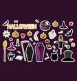 halloween stickers flat vector image