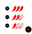 Hot red pepper strength scale indicator with mild vector image