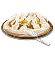 ice cream tart vector image vector image