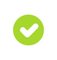 icon of green check mark or tick for ok or accept vector image vector image