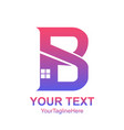initial letter b logo template colorful home icon vector image vector image