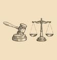justice sketch jurisdiction business concept vector image