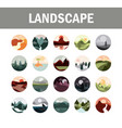 landscape nature mountains ocean and forest in vector image vector image