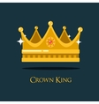 Medieval queen crown or king headdress vector image