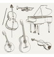 musical set vector image vector image