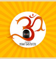 om symbol with shivling idol background vector image vector image