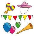 party and carnival set isolated vector image vector image