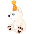 Polar Bear Celebrating vector image vector image