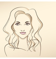 Portrait of woman in pastel tones3 vector image vector image