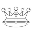 queen crown icon outline style vector image
