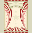 rainbow red circus vintage vector image vector image