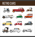 retro cars with amazing vintage design vector image vector image