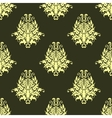 Retro yellow or light olive seamless pattern vector image