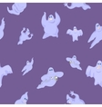 ridiculous and funny ghosts on Halloween vector image vector image