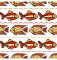 seamless sea fish pattern vector image