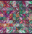 seamless trendy doodle geo tile swatch pattern vector image