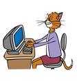 secretary cat vector image vector image