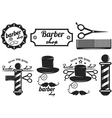 Set logos labels badges abarber shop vector image vector image