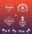 Set of Summer Holidays Hipster Vintage Labels or vector image
