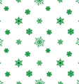 snowflake green white background vector image vector image
