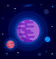 space planets vector image