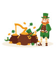 st patricks day leprechaun ireland vector image