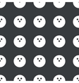 Straight black bowling pattern vector image vector image