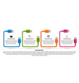 technology options infographics template usb vector image vector image