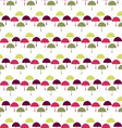 umbrella pattern Seamless umbrella background vector image vector image