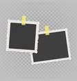 vintage photo frame vector image vector image