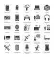 wireless devices flat glyph icons wifi internet vector image vector image