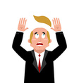 Man and wig Scared businessman lost their hair vector image
