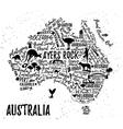 Cartoon map of Australia vector image