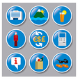 icons of hotel service vector image