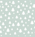 christmas tree seamless pattern holiday background vector image