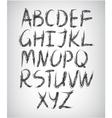 set of handwritten font vector image