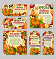 autumn sale shop or farm market discount vector image vector image