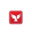 bird dove open wings flying logo design pigeon vector image vector image