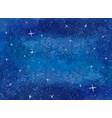blue galaxy night sky watercolor vector image