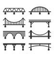 bridge icon set on white background vector image vector image