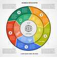 Business circular infographic 5 vector image vector image
