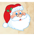 Classic Santa Claus Head Old Paper Texture vector image vector image