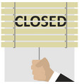 close the blinds end of work vector image vector image