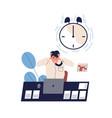concept missing deadline bad time management vector image vector image